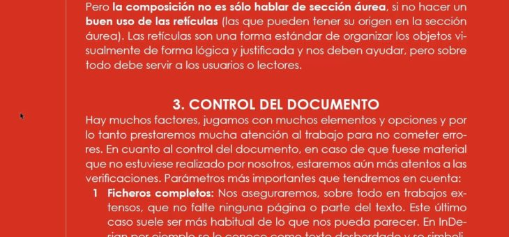 Control de documentos de InDesign (1ª parte)